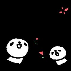 【LINEスタンプ】<母の日・父の日>わさわさパンダたち Panda