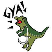 【無料スタンプ】Meet Rexy,the COACH dino!