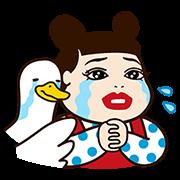 【無料スタンプ】人気芸人×アフラックコラボスタンプ