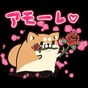 【無料スタンプ】アモーレ♡ボンレス犬&ボンレス猫