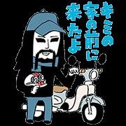 【無料スタンプ】Honda×金爆 原付スタンプ