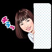 【無料スタンプ】広瀬すず×写プライズスタンプ