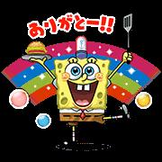 【無料スタンプ】LINE バブル2×スポンジ・ボブ