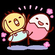 【無料スタンプ】【たまひよ】たまちゃん・ひよちゃん