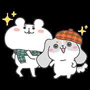 【無料スタンプ】ファッピー×ゆるくま★コラボスタンプ