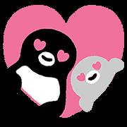 【無料スタンプ】Suicaのペンギン 飛び出す!スタンプ