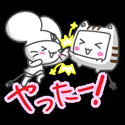 【無料スタンプ】動く!マウスの「チュ丸」と「モニャー」