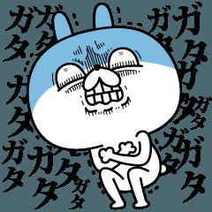 【LINEスタンプ】顔芸うさぎ 冬ver