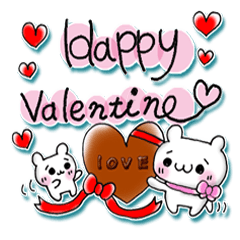 【LINEスタンプ】バレンタイン&ホワイトデーに最適スタンプ