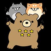【無料スタンプ】ボンレス犬・猫×エクスベア