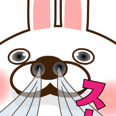 【LINEスタンプ】LOVE100%(中毒うさぎのバレンタイン)