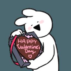 【LINEスタンプ】すこぶる動くウサギ【バレンタイン】
