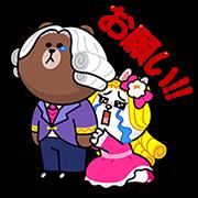 【無料スタンプ】POPショコラX貴族風スタンプ