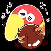 【無料スタンプ】ゆるっとキョロちゃん第2弾