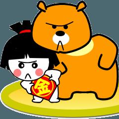 【LINEスタンプ】使いやすい金太郎スタンプ