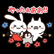 【無料スタンプ】ミミちゃん×ねこぺん日和★コラボスタンプ