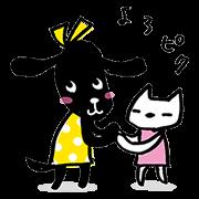 【無料スタンプ】おめかし犬ピクとニック ver.4