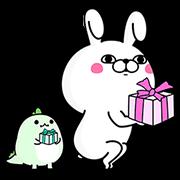 【無料スタンプ】うさぎ100%×LINE STORE