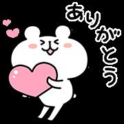 【無料スタンプ】ゆるくま×クロックス