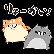 【無料スタンプ】ボンレス犬とボンレス猫