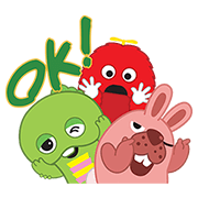 【無料スタンプ】LINEポコポコ×ガチャピン・ムック