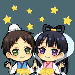 【LINEスタンプ】七夕スタンプ☆ミ