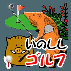 ゴルフ年賀状スタンプ2019