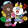 【無料スタンプ】LINE FRIENDS in 原宿 スタンプ