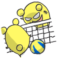 【LINEスタンプ】To cheer volleyball!!