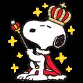 【無料スタンプ】スヌーピー王様スタンプ