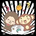 【無料スタンプ】タッチモンチー×モンチッチ 限定スタンプ