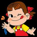 【無料スタンプ】LINE ラッシュ × ペコちゃん